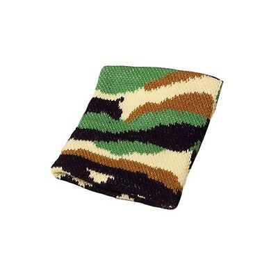 Camouflage Camo Stretchy Wristband Army Hunting Woodland Sweatband