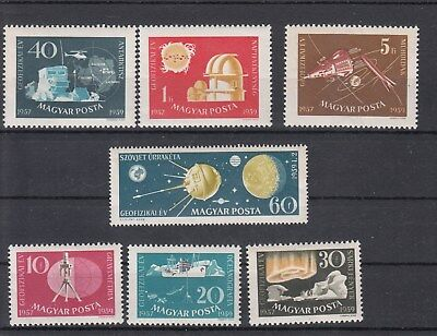 Hungary:1959 Space Achievements set of 7 stamps.MUH/MNH.SG1552/1558. Going cheap