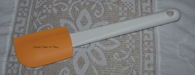 Tupperware Tupperchef Silicone Saucy Spatula  Peach Apricot
