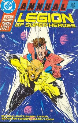 Legion of Super-Heroes (1984) Annual #4 FN STOCK IMAGE