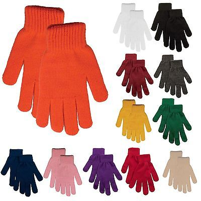 Fashion Women Children Gloves & Mittens Girl Boy Kids Stretchy Knitted Gloves