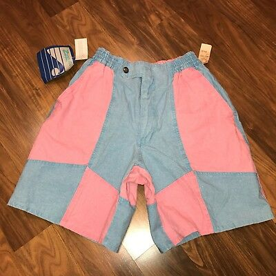 NEW Vtg 80s 90s Zeppelin Colorblock SURF jams chubbies Neon Mens 32 shorts NWT