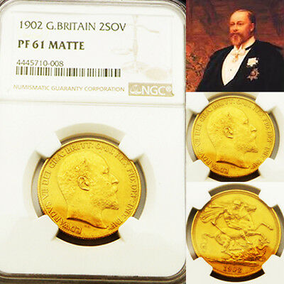 King Edward Vii 1902 £2 Matt Proof Ngc 61