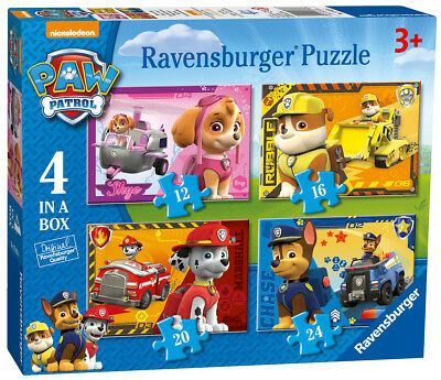 07033 Ravensburger Paw Patrol 4 in a box  [Children's Jigsaw Puzzle] New in Box!