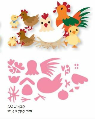 Marianne Design Stanzschablone Collectables Eline`s Huhn familie COL1429