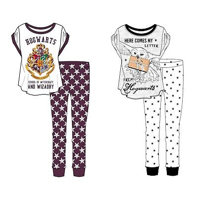 Ladies Girls Novelty Harry Potter Hogwarts Gryffindor Slytherin Pyjama Pjs 8-22
