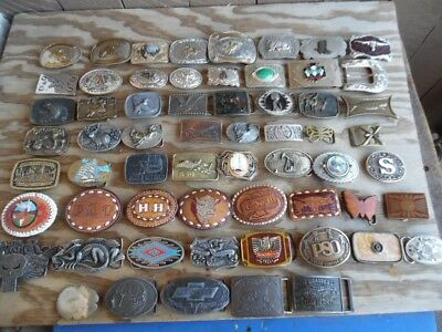 Wholesale Lot 61 Western Rodeo Animal Nature Auto Theme Belt Buckles (wb246)