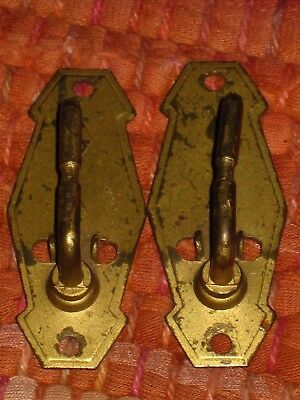 2 Antique Vintage 1928 Barnwell Newell Art Deco Curtain Rod Brackets