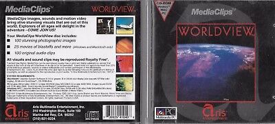 WORLDVIEW Media Clips by Aris Entertainment (PC, CD-ROM, 1991)