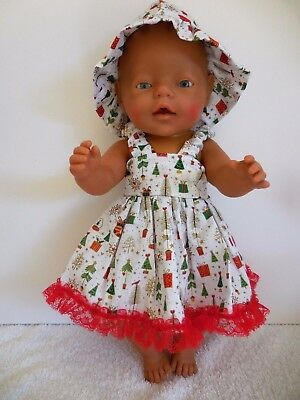 "Baby Born 17""  Dolls Clothes White Christmas   Summer Outfit"