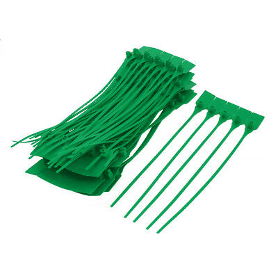100pcs 340mm Length Nylon Self-Locking Label Cable Tie Zip Green
