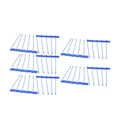 100Pcs 170mm Length Self-Locking Nylon Labels Cable Tie Zip Blue