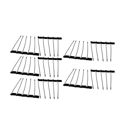 100Pcs 170mm Length Self-Locking Nylon Marker Labels Cable Tie Zip Black