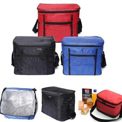 Portable Thermal Cooler Insulated Tote Picnic Lunch Travel Ice Bag Waterproof BS
