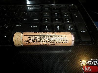 Antique NOS Howe & French Red Litmus Paper Glass Tube & Cork Topper Boston,Mass.