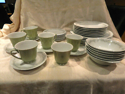 NORITAKE RC ANNE 35 PCE Dinner Set (6 person missing one saucer)