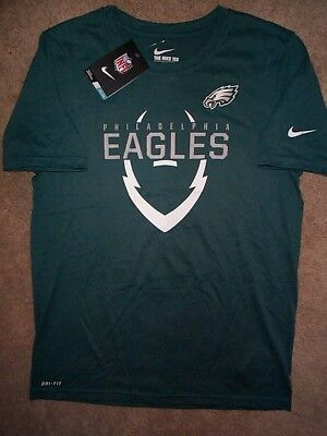 ($28) NIKE Philadelphia Eagles nfl DRI-FIT Jersey Shirt YOUTH KIDS BOYS (L-LARGE