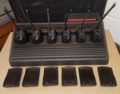 Qty 6 Motorola GP344 UHF Radio & Charger Taxi Security Farm Shoot Building Site