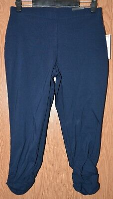 Womens Navy Blue Style&co Comfort Waist Mid Rise Capri Pants Size Small NEW NWT