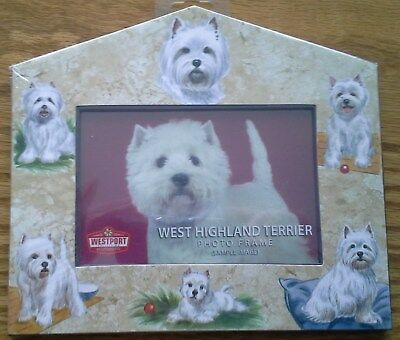 "Picture frame - West Highland Terrier - 3"" x 5"""