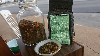 ORGANIC Kyoto Cherry Rose Loose Leaf Green Tea - 1/4 lb - 1.1 lbs 500 grams