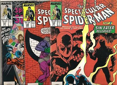 Marvel Comics  Spectacular Spider-Man  Lot of 3  issues # 134 136 & 137