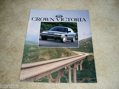 1996 Ford Crown Victoria LX sales brochure dealer car auto literature