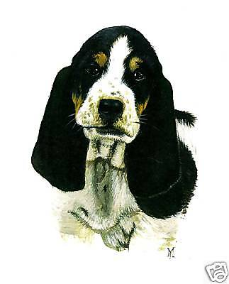 BASSET HOUND RYTA DOG HUSH PUPPY ART PRINT OF PAINTING 8x10 portrait realism