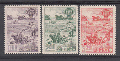 China: Taiwan, 1961 Agriculture Census set of 3. Sg395/397. MUH