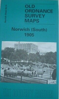 Old Ordnance Survey Detailed Maps Norwich South Norfolk 1905 Godfrey Edition