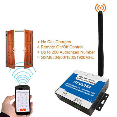RTU5024 GSM Gate Opener Free Call Wireless Door Access Remote Control by Phone C