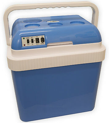 Andes Large 25L Cool Box Insulated Cooler & Heater With 12V/240V AC DC Adaptors