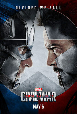 Captain America Civil War - original DS movie poster D/S 27x40 Adv