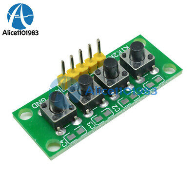 2PCS 5Pin 1x4 4 Keys Button Keypad Keyboard Breadboard Module for Arduino DIY