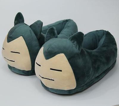 a61497ec4cb9 pokemon Snorlax plush indoor anime slippers warm house shoes new 1 pair