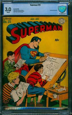 Superman # 25  Your Friend, Superman !  CBCS 3.0  scarce Golden Age book !