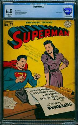 Superman # 27  Palace of Perilous Play !  CBCS 6.5  scarce Golden Age book !