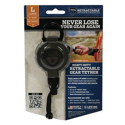 """T-REIGN 0TRG-231-EL Kevlar 10""""-48"""" Retractable Gear Tether - Size Large"""