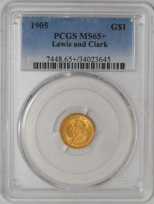 1905 $ Gold Lewis & Clark Dollar MS65+ PCGS