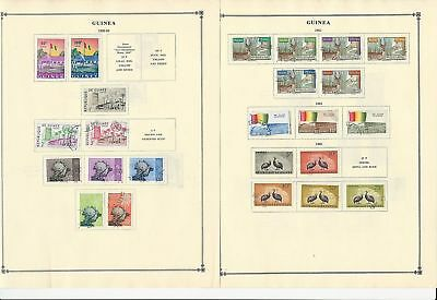 Guinea Collection 1959-1963 10 Scott International Pages, 2 Stock Pages