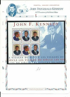 Guinea Collection, John F Kennedy, 2 White Ace Pages Mint NH Sheets, 2113-4