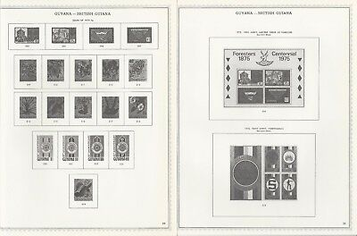 Guyana 1975-1983 Minkus Specialty Pages, 42 Pages, No Stamps