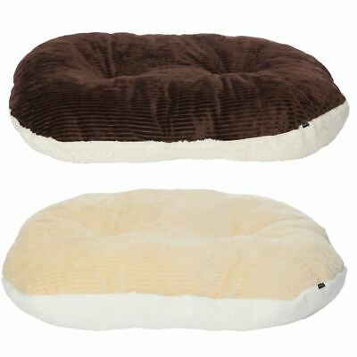 Bunty Oval Dog Pet Puppy Cat Bed Fleece Round Cushion Hard Wicker Basket Insert