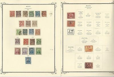 Haiti Collection 1881 to 1964 on Scott Specialty Pages, Around 50 Pages