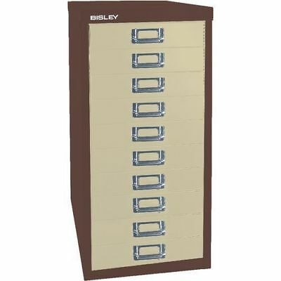 COFFEE & CREAM 10 MULTI DRAWER 'BISLEY' FILING CABINET - NEW 590H x 279W x 380D