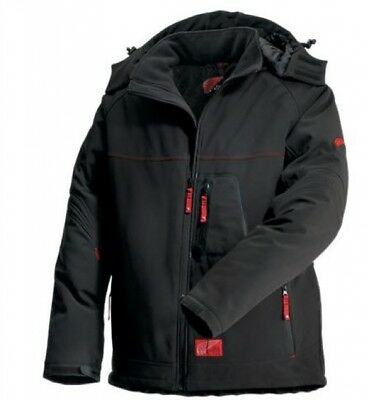 Red Wing 69006 Windproof Insulated Softshell Jacket - Black Red  size 4XL