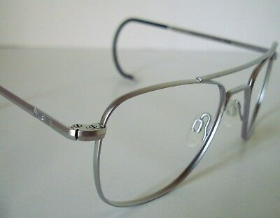 97bd608217c RE Randolph Engineering Chrome Aviator Sunglasses Eyeglasses Frame USA  52-20 AF