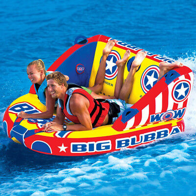 WOW Big Bubba 1 - 2 Riders Towable Ski Tube Inflatable Biscuit Boat Ride