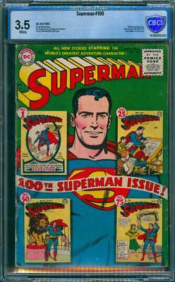 Superman # 100  100th Anniversary Issue !  CBCS 3.5  scarce book !