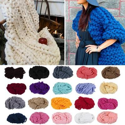 Thick Bulky Wool Roving Soft DIY Knitting Wool Spinning Chunky Yarn BS